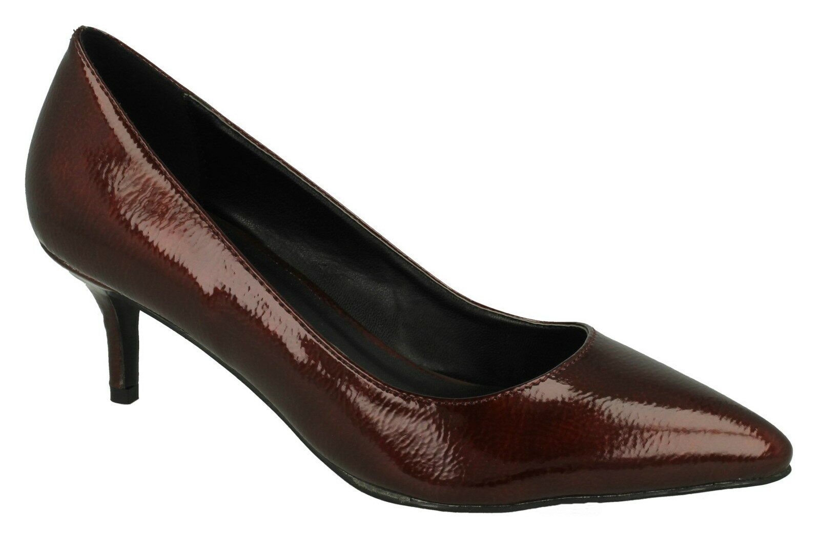 OFFERTA SPOT ON F9952 BORDEAUX da donna scarpe in pelle lucida eleganri