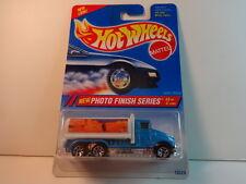 """Hot Wheels Blue Tank Truck """"Photo Finish"""" w/ 7 spoke PKG# 333 dated 1994 MIP"""