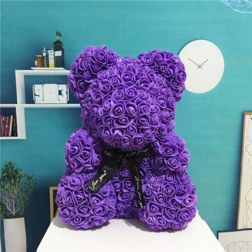 Rose Flower Bear Wedding Eomantic Decor Girlfriend Birthday Valentine/'s Day Gift