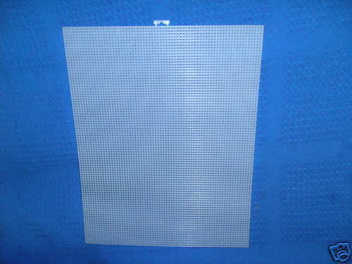 """Choice of 1 2 5 9 12 18 Sheets Darice 7 count Plastic Canvas 13.5/"""" x 10.5/"""""""