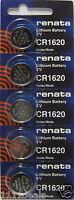 Renata Cr1620 Watch Battery 5 Pk
