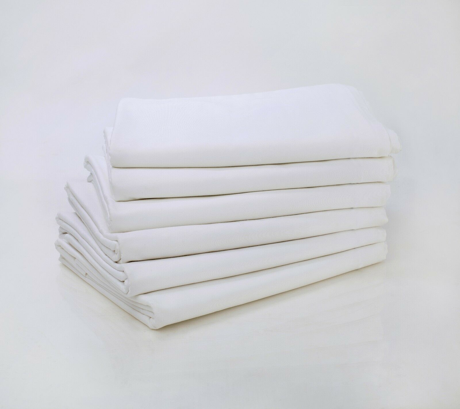 12 COTTON RICH WHITE FULL XL SIZE 81X115 FLAT RESORTS HOTEL BED SHEETS T-200 CVC