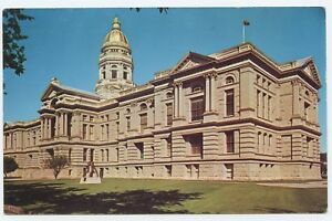 Details about Wyoming State Capital Building Cheyenne Wyoming RPPC