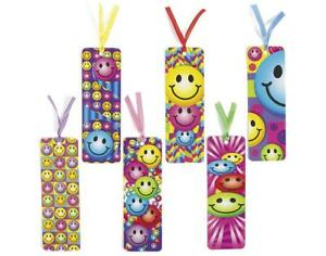 Bright-Smiley-Bookmarks-Book-Reading-School-Party-Bag-Fillers-Pack-Size-6-48