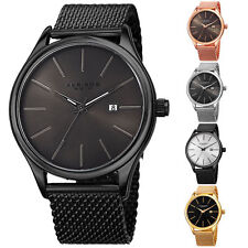 Men's Akribos XXIV AK959 Quartz Sunray Dial Date Stainless Steel Mesh Watch