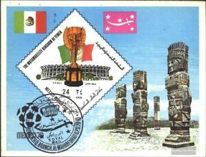 Jemen-Koenigreich-Block191-kompl-Ausg-gestempelt-1970-Fussball-WM-Mexiko