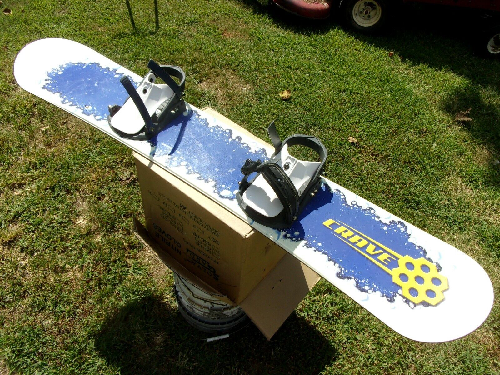 Vtg Built Honeycomb Cereal Crave Snowboard Rare Design Box Prize Crazy Craving