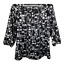 thumbnail 4 - Ann Taylor Womens Top Scoop Neck Puff Sleeve Blouse Black White Work Size Medium