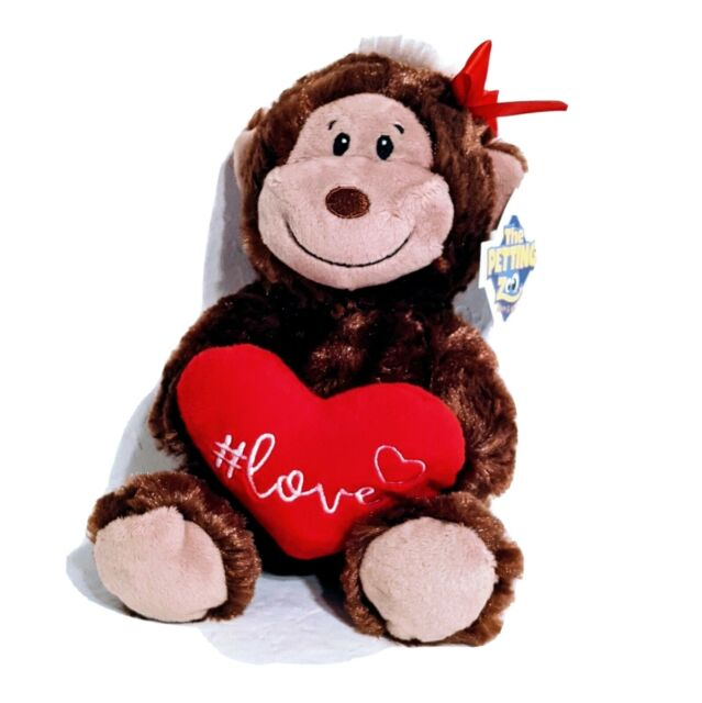 Petting Zoo Gorilla Monkey with Heart Plush Stuffed Animal Toy
