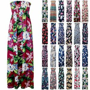 3910b8b686 Image is loading Plus-Size-Womens-Boobtube-Sheering-Ruched-Bandeau-Floral-