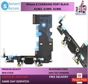sneakers for cheap ed8e2 b6835 Details about For iPhone 8 Charging Port Flex Dock Connector Replacement  With Microphone Black