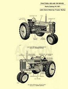 John Deere 520 530 Tractor Parts Manual Catalog JD 527   eBay