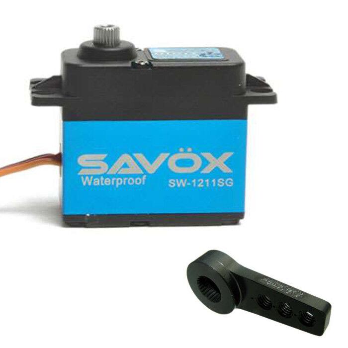 SavOx SW1211SG impermeable w aluminio libre SERVO HORN SERVO DIGITAL CORELESS