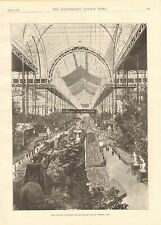 1896 ANTIQUE PRINT-NATIONAL CYCLE SHOW AT THE CRYSTAL PALACE-GENERAL VIEW
