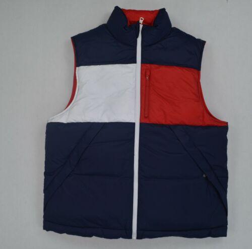 NWT Men/'s Tommy Hilfiger Reversible Sleeveless Puffer Jacket Outerwear Reg $150