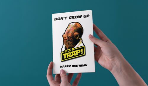 Star Wars Trap Happy Birthday Greeting Card Funny Rude Love Han Solo Avengers