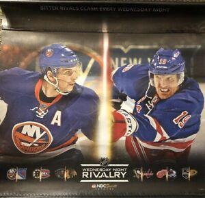 on sale 0b20a 68ef2 Details about New York Rangers Islanders New Jersey Devils Philadelphia  Flyers Rivalry Poster