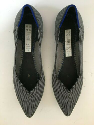 Rothy's Gray Pointed Toe Flats - Size 8