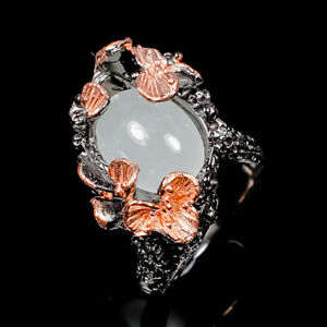 Aquamarine Ring Silver 925 Sterling Fine Art Jewelry Size 8 /R139835