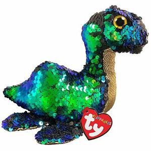 Ty-Beanie-Babies-36353-Flippables-Standard-Nessie-The-Loch-Ness-Monster-Ecosse