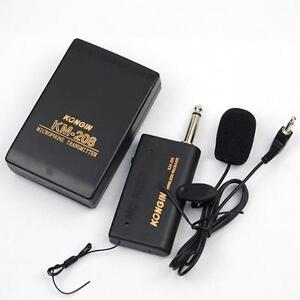 Microphone-Sans-Fil-Transmetteur-FM-Recepteur-Professionnel-Lavalier-Lapel-Clip