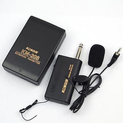 Wireless Microphone Fm Transmitter Receiver Professionnal Lavalier Lapel Mic Tegen Elke Prijs