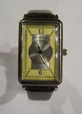Bergmann 1923 * Rechteckig * Damen Quarz Uhr * Lederband Braun
