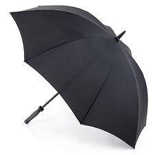 Fulton Technoflex Mens Walking Length Extra Wide Canopy Umbrella in Black