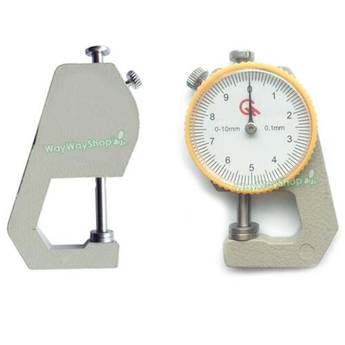 Leather Craft Tool Thickness Gauge Tester Measuring 0-10mm Flat Sheet Prockets L