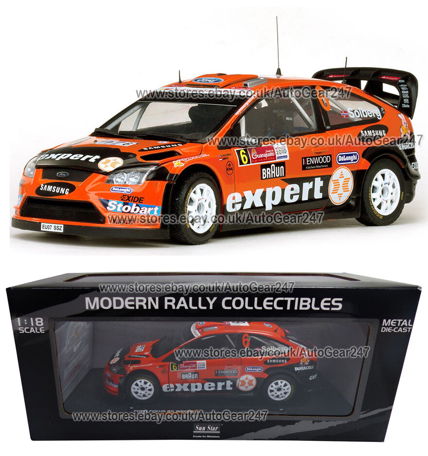 Ford Focus RS WRC08 H.Solberg I.Minor Rally Mexico 2010 Diecast Model 1 18