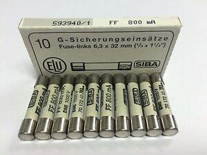 SIBA 70-172-40 FF800mA Fuse Ultra Rapid FF 800mA 1000V DMM Fuse JPSF086 7017240