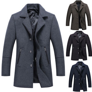 Winter Jacket Men Thick Wool Coat Slim Fit Jackets Casual Jacket Overcoat trench