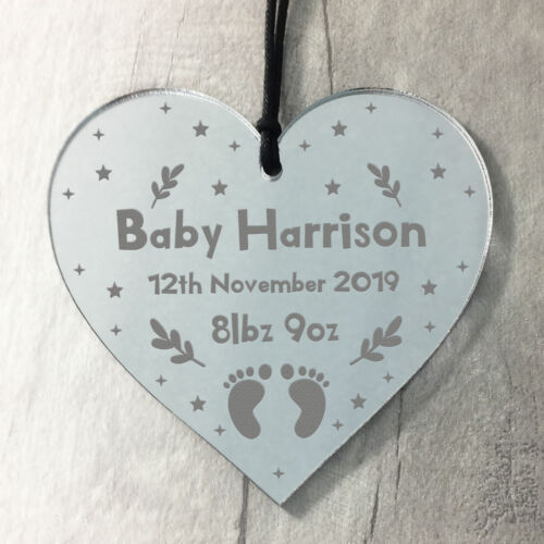 Personalised Newborn Baby Gift Present For Baby Boy Girl Engraved Christening