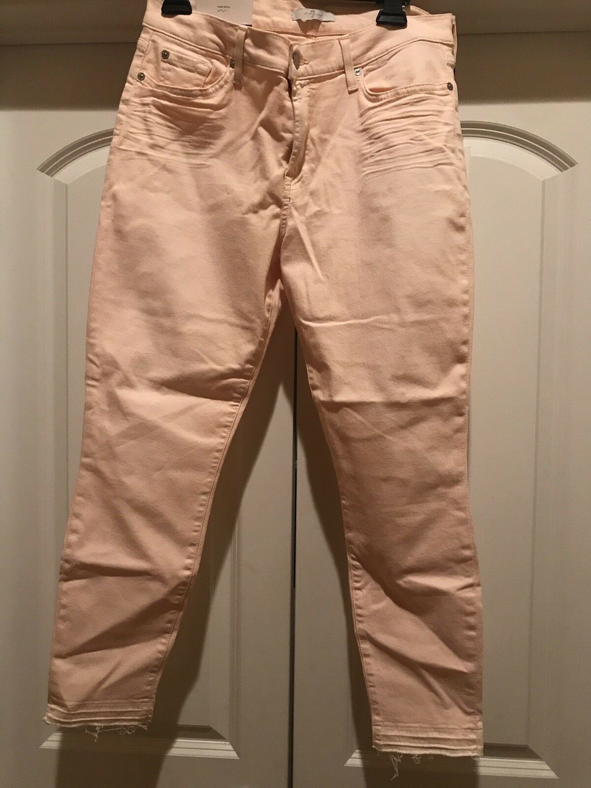 Women's Peach 7 For All Mankind Ankle Skinny Jeans Size 32
