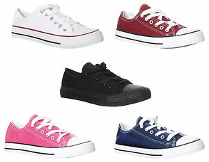 17766814e85 Image is loading Classic-Chuck-Taylor-Inspired-Low-Top-Unisex-Trainers-