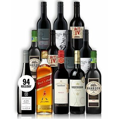Big Red Wine & Scotch Mix + Premium Mcguigan (12 Bottles)