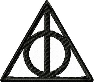 Deathly Hallows Patch: Sew-On, Iron-On or Velcro