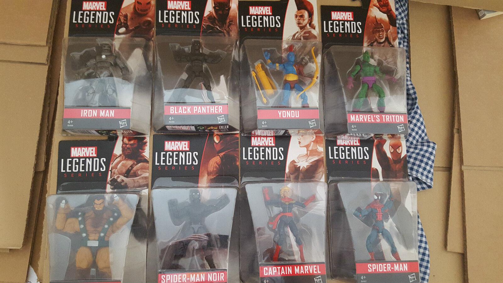 MARVEL Legends 3.75 SERIE 1 SERIE COMPLETA nuovi e inscatolato Spideruomo Pantera Nera