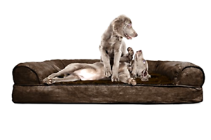 New FurHaven Orthopedic Dog Couch Sofa Bed Ultra Deluxe Plush for Dogs and Cats