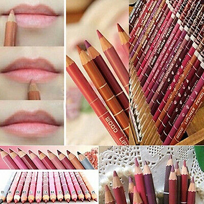 12Pcs Set Waterproof Lip Liner Mixed Colors Pro Striking Lipliner Pencils
