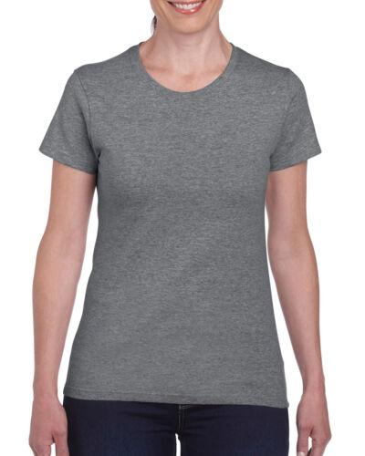 5 Pack Gildan Heavy Cotton T Shirt Women Girls Ladies Tee shirt Multicolour s-xl