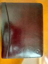 Franklin Covey 6 Ring Burgundy Leather Planner Zippered H 875 X W 675