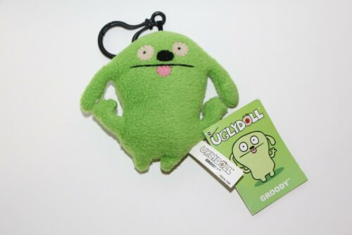 Gund UGLY DOLL KEYCHAIN GROODY GREEN NEW WITH TAGS clip on PLUSH KEYCHAIN