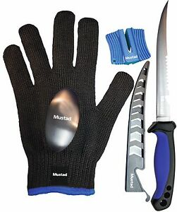 MUSTAD-Filetierset-Filetiermesser-Messerschaerfer-Handschuh-Messer-Set-filetieren