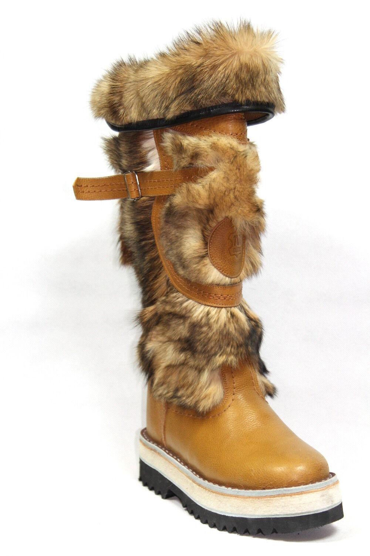 Mongolian Mukluk Long Winter Fur Stiefel