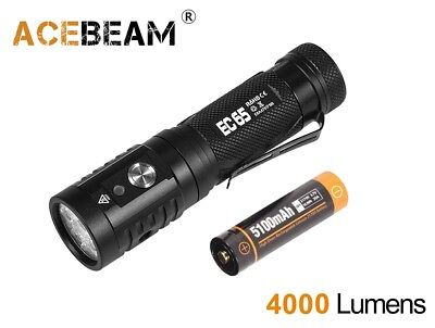 New AceBeam EC65 Type-C USB Nichia 90+ CRI LED 2500 Lumens LED Flashlight Torch