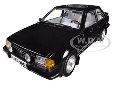 1983 FORD ESCORT XR3i SALOON BLACK 1/18 DIECAST CAR MODEL BY SUNSTAR 4985