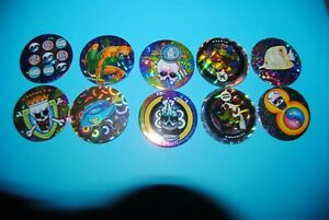 à Condition De 500 Pogs Pog Caps Milkcaps Flippo : Lot De 10 Pogs Fond Blanc
