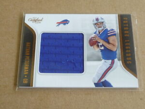 sale retailer 6db8d 33c3d Details about 2017 Donruss Certified Cuts NATHAN PETERMAN JERSEY BILLS  FUTURE LEGENDS E6164
