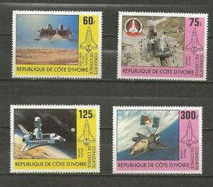 IVORY-COAST-1981-Conquest-of-Space-MINT-UNHINGED-SET